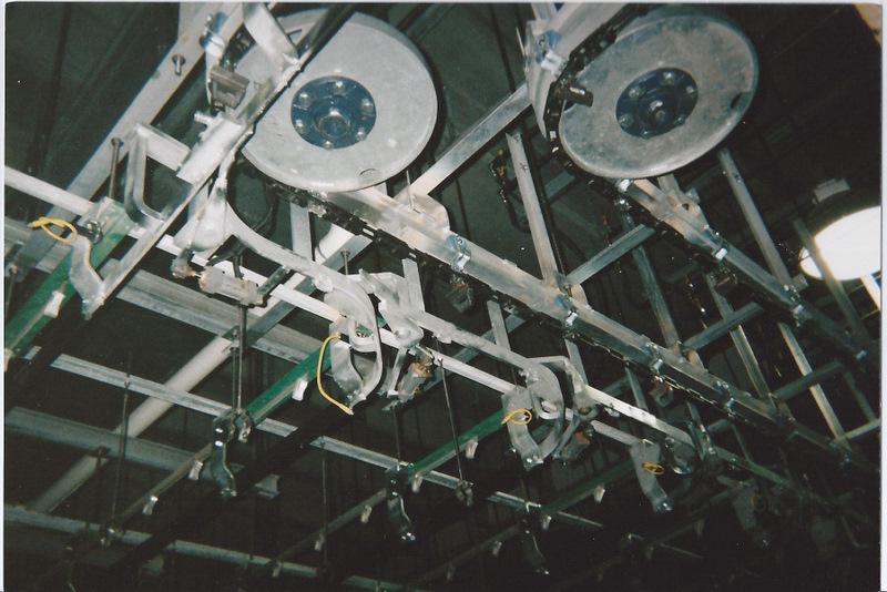 4 Inch Roller I Beam Overhead Conveyor
