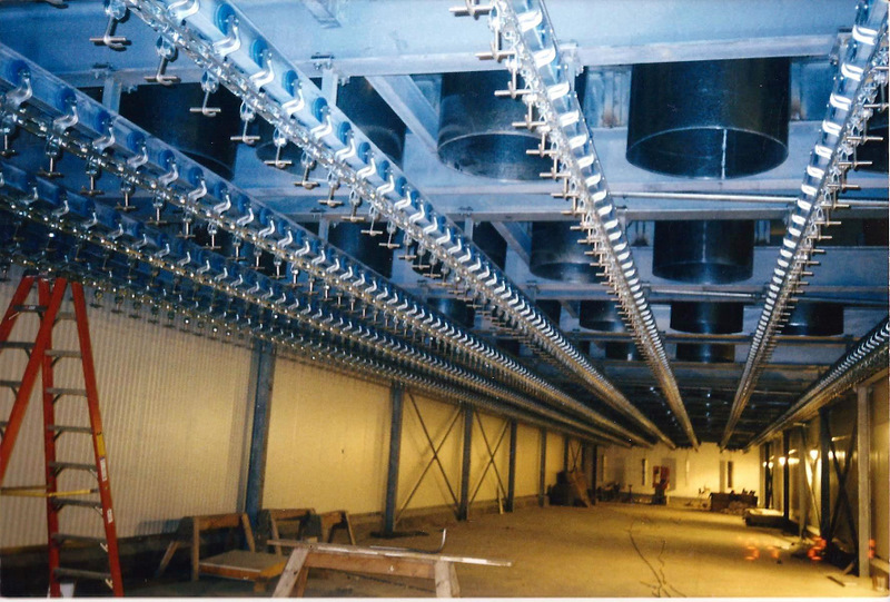 6 Inch Roller I Beam Overhead Conveyor